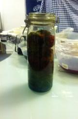 Dyeing Fabric in a Jar