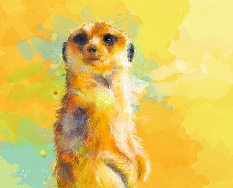 Deer Little Meerkat Art