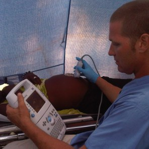 Our first Sonosite ultrasound in Haiti