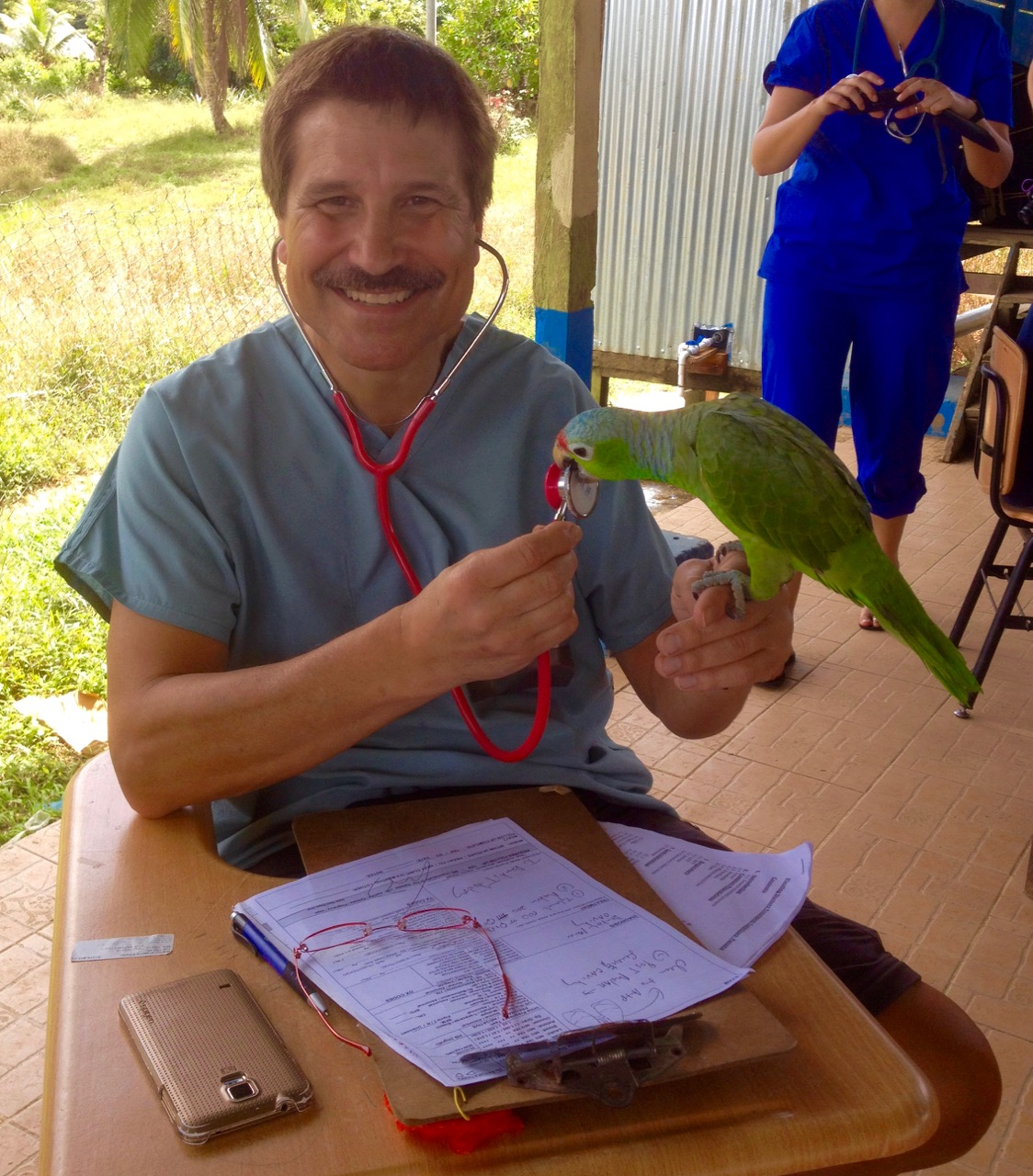 Taking a Break from People Patients, Though This Parrot Thinks It's A Person