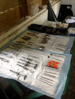 Our Dental Tools Laid Out For Clinic