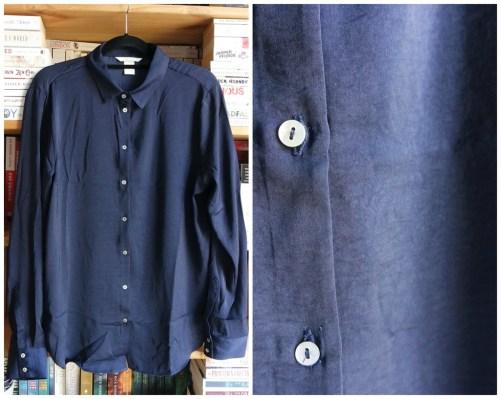 navy blue blouse H&M haul