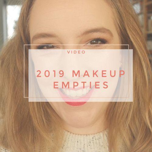 2019 makeup empties