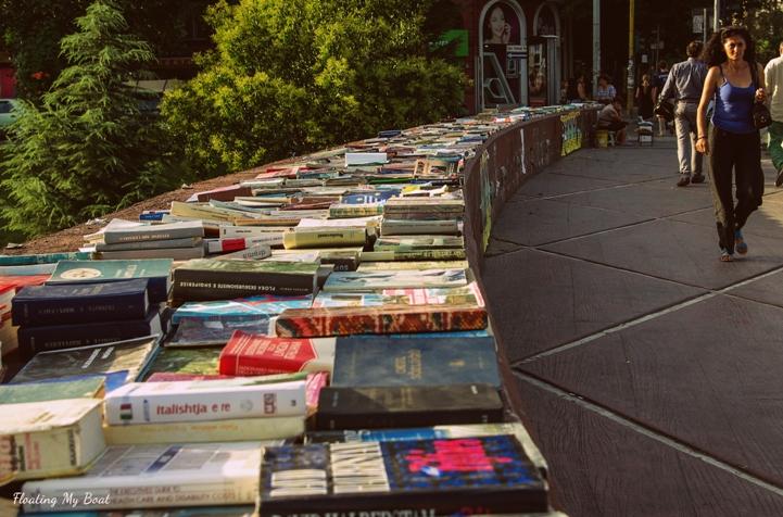 books in Tirana, Lana river, Tirana