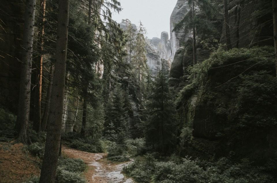 Adrspach, Błędne Skały, Szczeliniec – o siedmiu blondynkach i psie, co pojechały w góry – zdjęcia