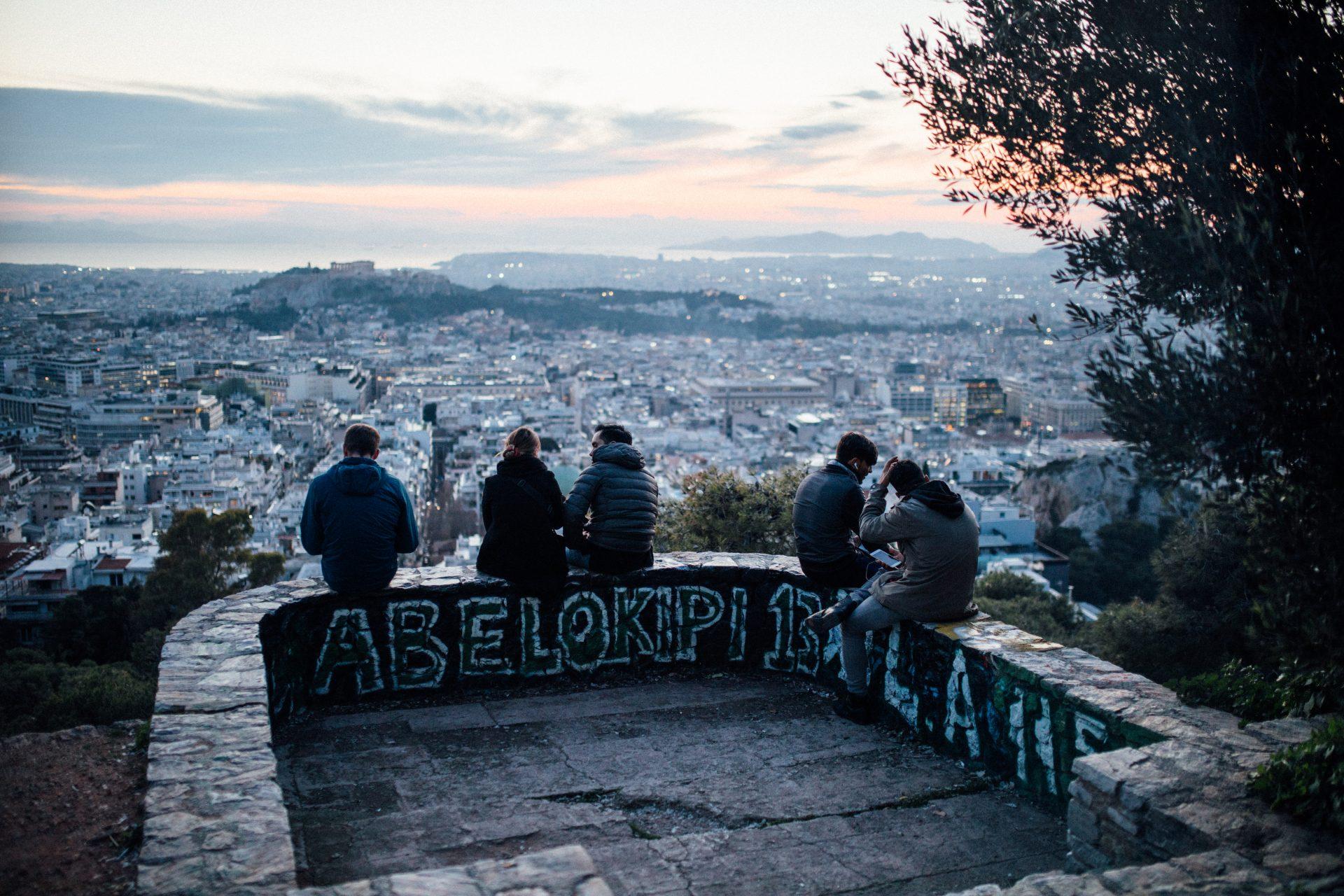 Ateny-co-zobaczyć-wzgórze-likavitos-zachód-słońca-panorama-aten