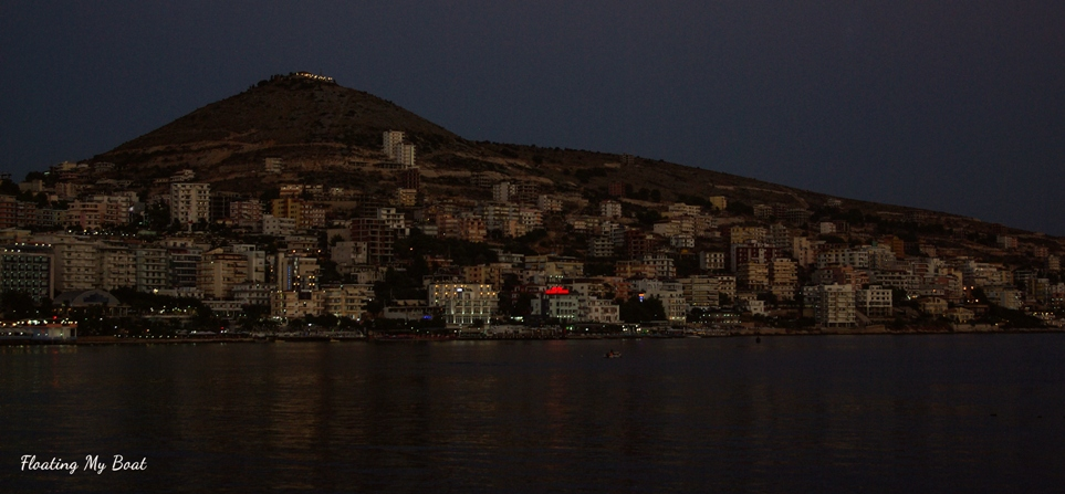 Sarandë at night