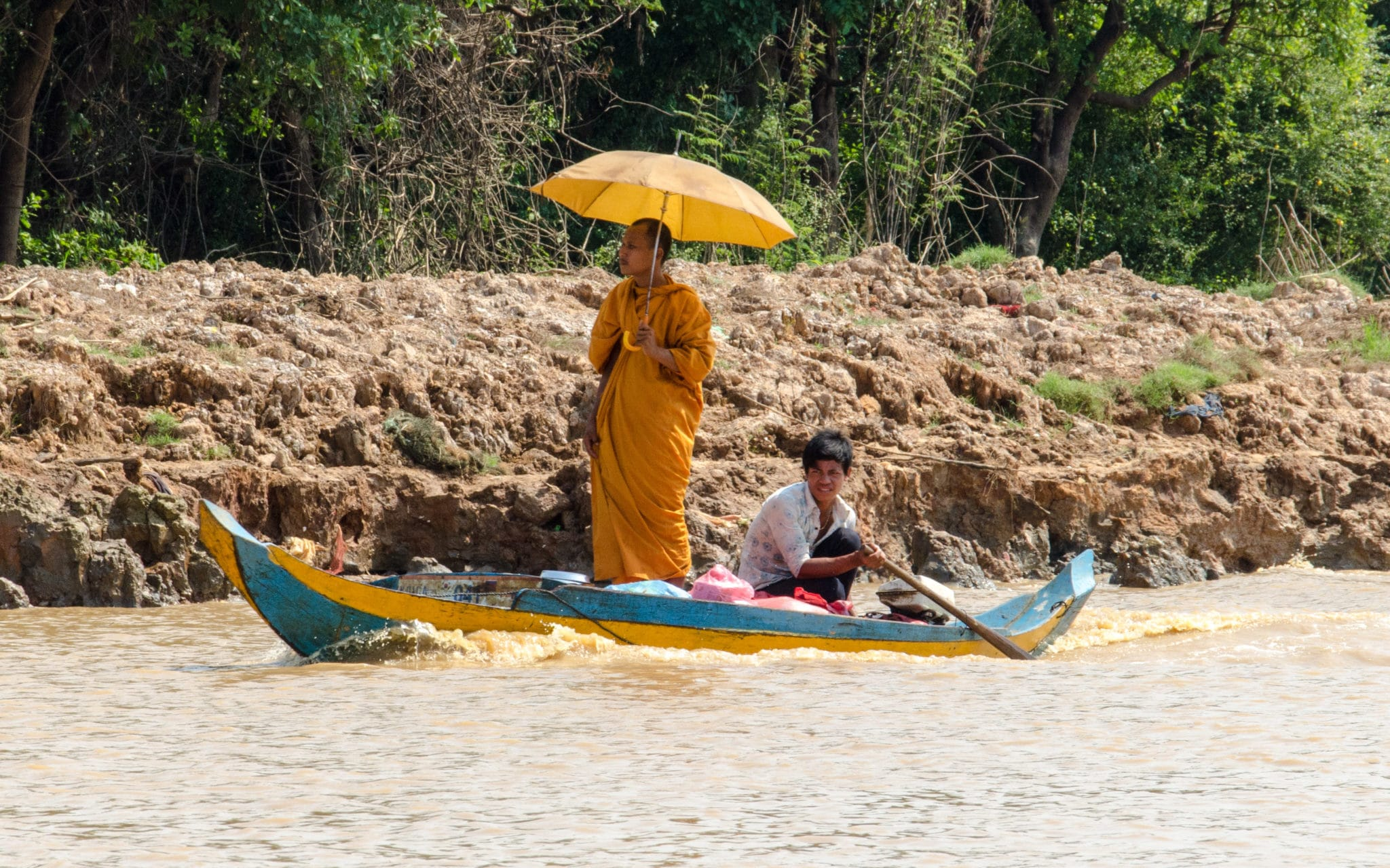 Monk in the Floating Village of Kompong Phluk