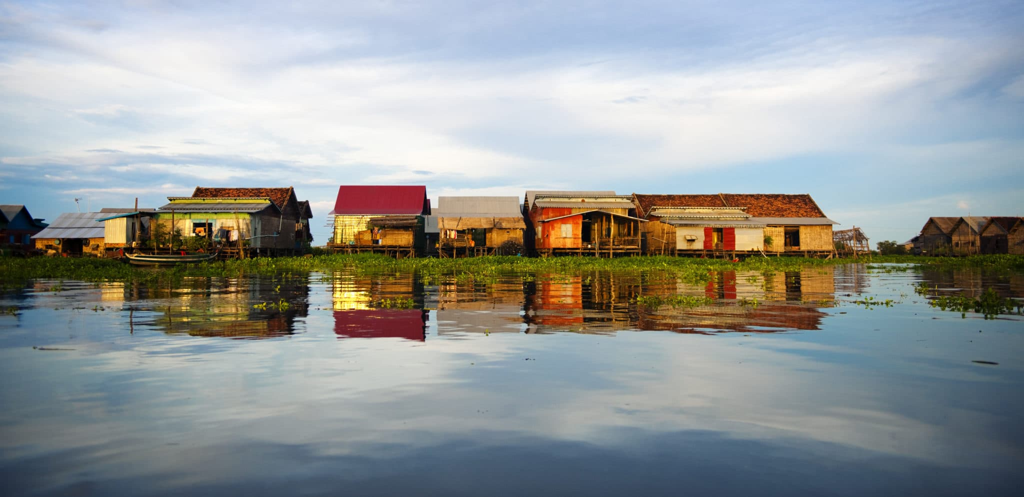 Collection of Floating Homes in Kompong Khleang.