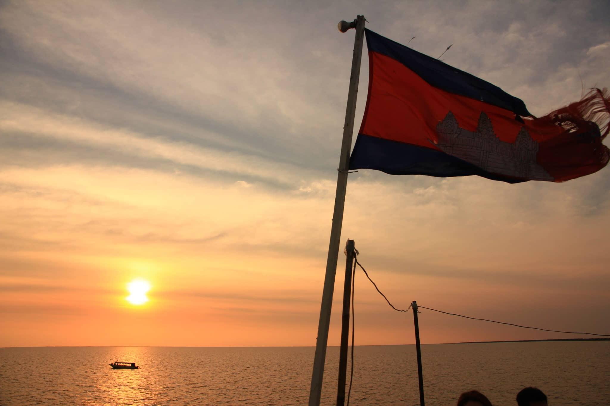 Sunset on the Tonle Sap Lake