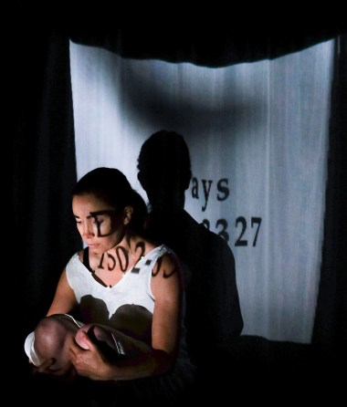 "Andrea Scott as Hanna Greally in Floating World Production's ""Lunatic There I Go"", written by Gill McCaw. Photograph by Conor Horgan."