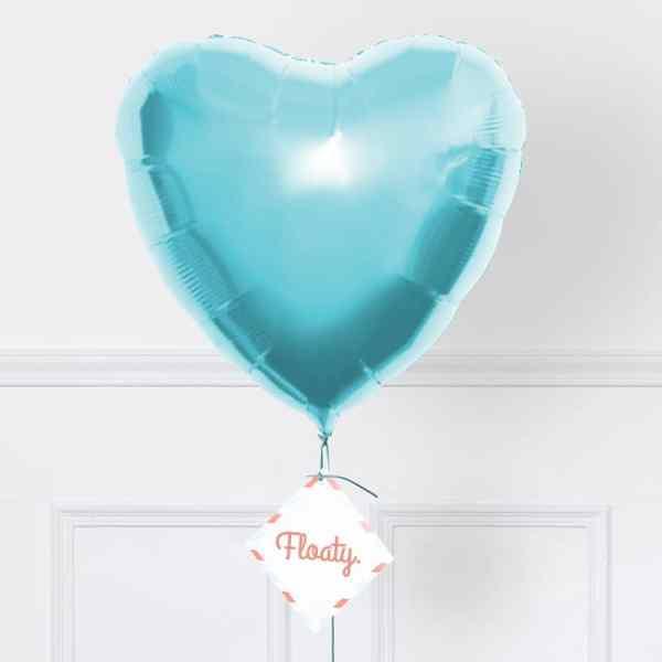 Herzluftballon Pastell-Türkis zoom
