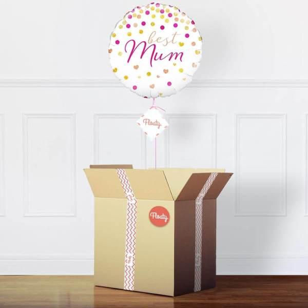 Beste Mama Ballon mit Punkten im Paket
