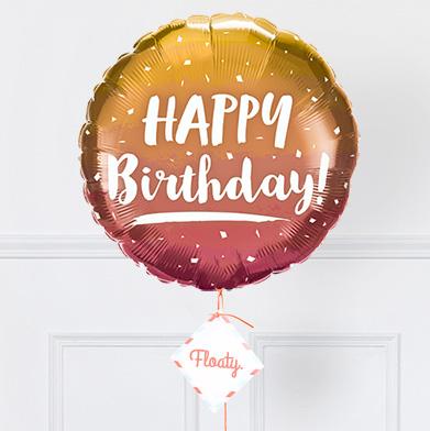 Goldener Geburtstagsballon Zoom