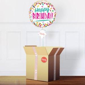 Geburtstagsballon Sprinkles im Karton