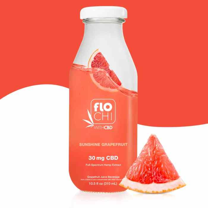FloChi CBD Juice CBD Ruby Red Grapefruit Flavored Juice