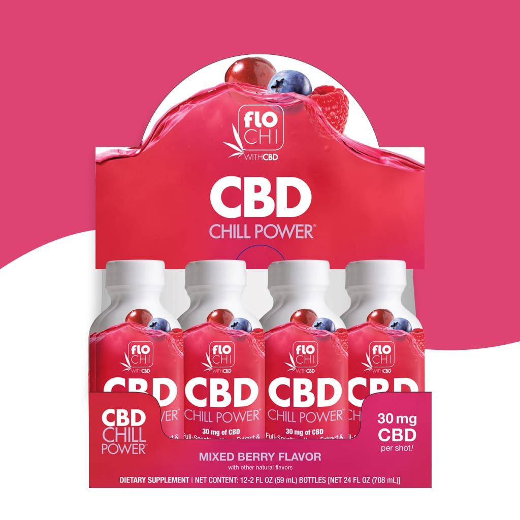 FloChi CBD Energy Shots Mixed Berry Flavor 12-Pack