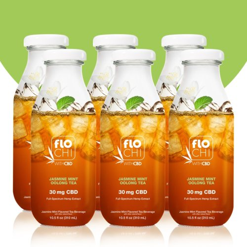 FloChi CBD Iced Tea Jasmine Mint Oolong Tea Flavor 6-Pack