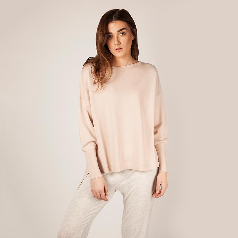 Eloise Merino Blush Pink jumper