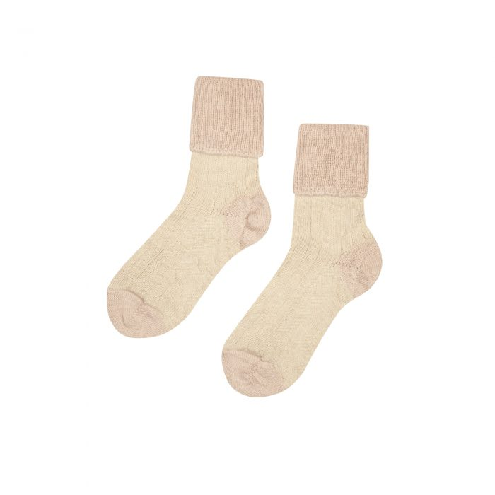 Hazel alpaca socks in blush