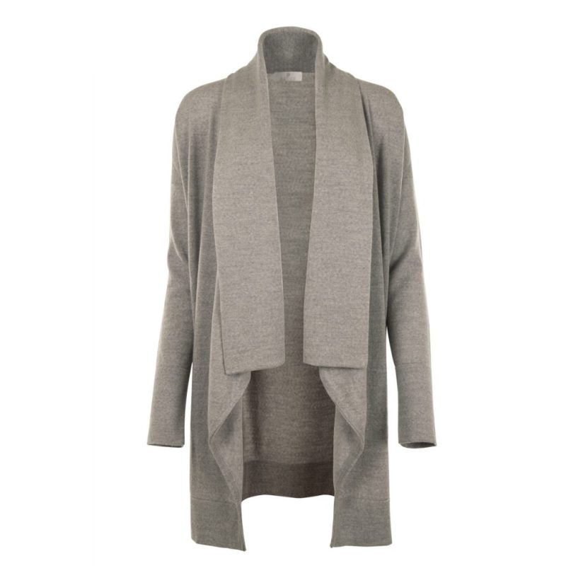 Long Grey Cardigan from Flock by nature   front