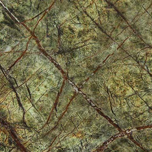 Green Marble Kitchen: Rainforest Green Marble