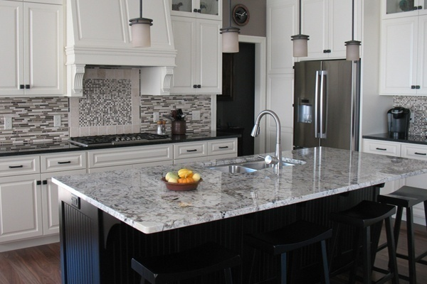Alaska White Granite Center Table