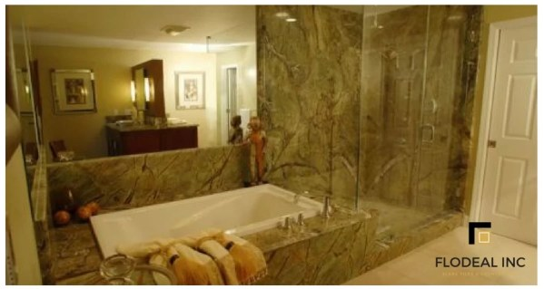 Rainforest Green Marble Wall Cladding