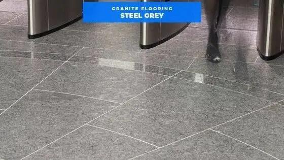 Steel Grey Granite Floor Tiles