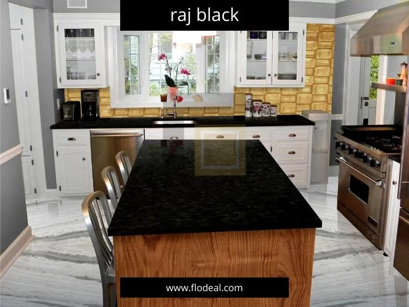 Rajasthan Black Granite Kitchen Countertops