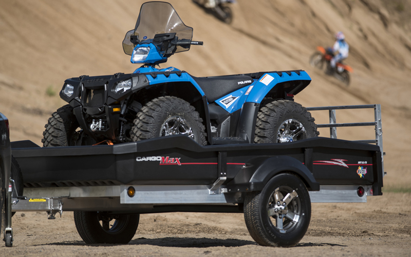 CargoMax trailers with ATV inside.