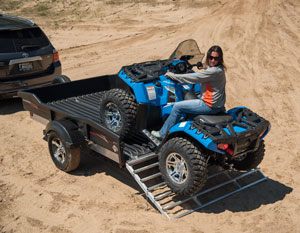 CargoMax being used to unload ATV