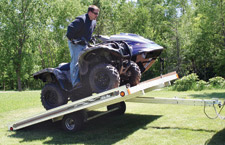 ATV loading on the VersaMax Trailer
