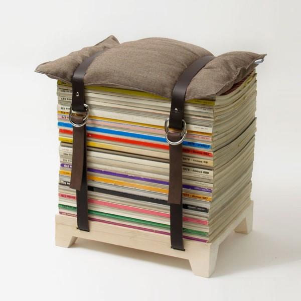 今年夏天最實用的有趣設計 - 雜誌收納凳