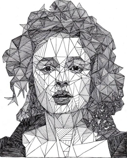 Helen Bonham Carter - Josh Bryan 的幾何明星人畫像