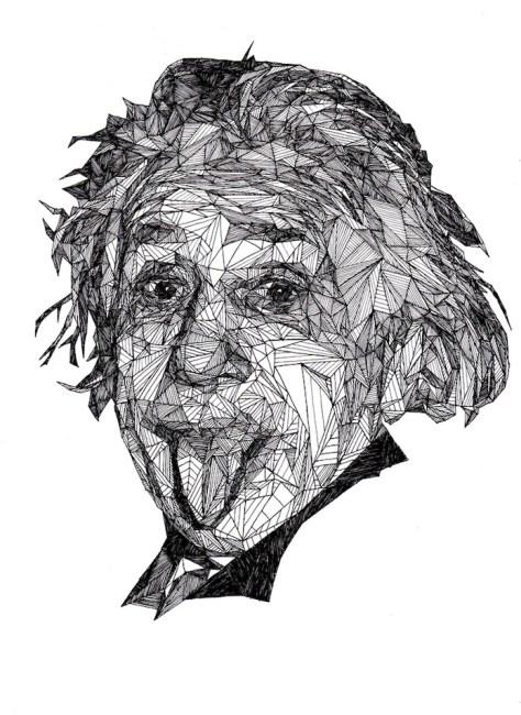 愛因斯坦 - Josh Bryan 的幾何明星人畫像