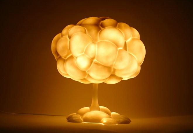 反戰反核蘑菇燈:可愛的警世檯燈設計 MushroomLamp_1