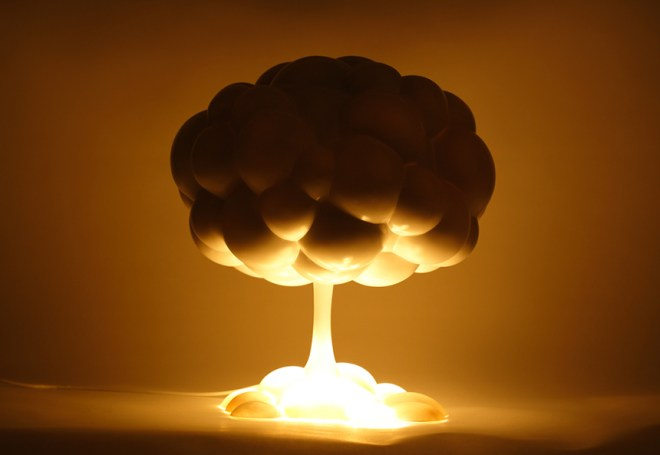 反戰反核蘑菇燈:可愛的警世檯燈設計 MushroomLamp_2