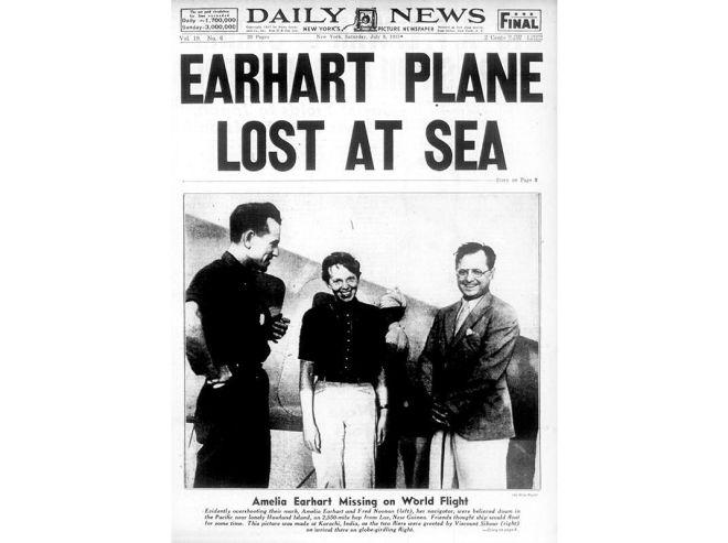 earhart newspaper record