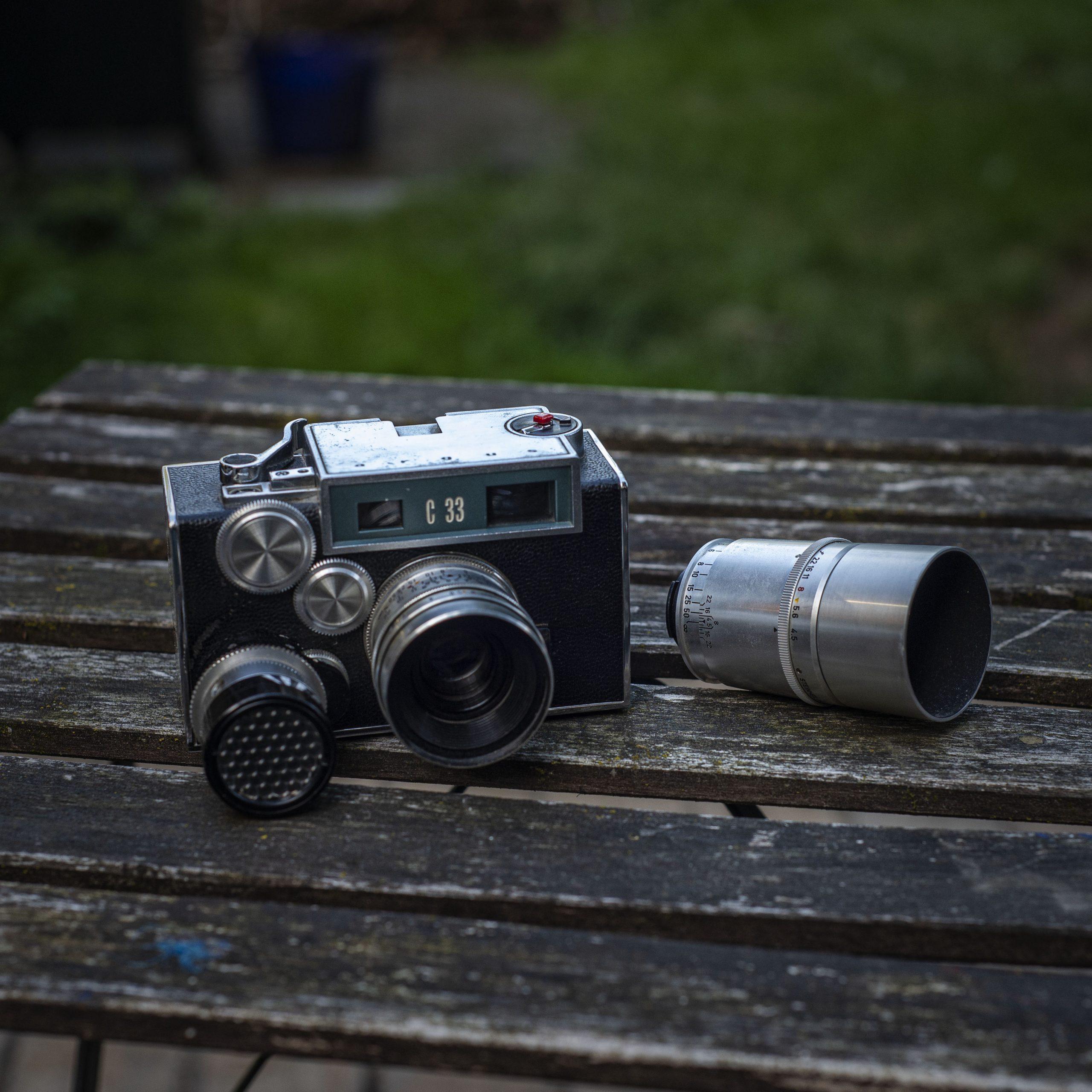 Argus C33 and accessories
