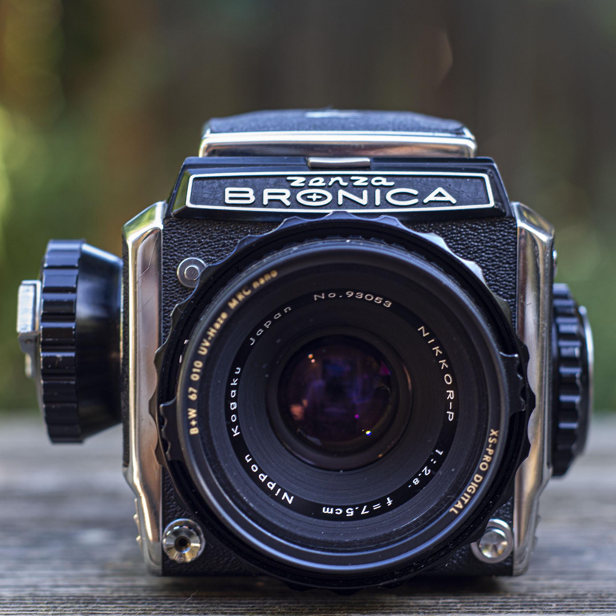 Nikkor 75mm lens front detail