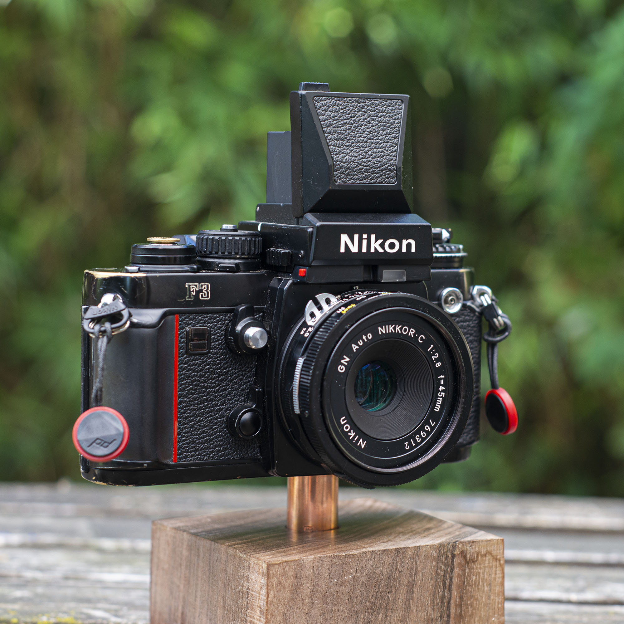 Nikon F3 with a waist level finder