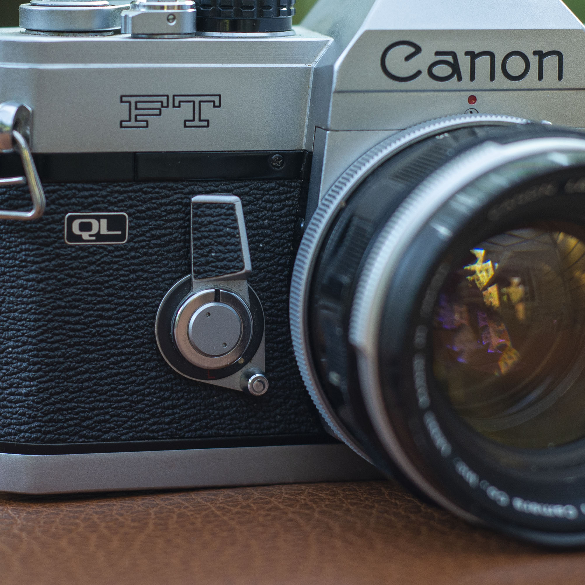 Canon FT meter/timer control lever