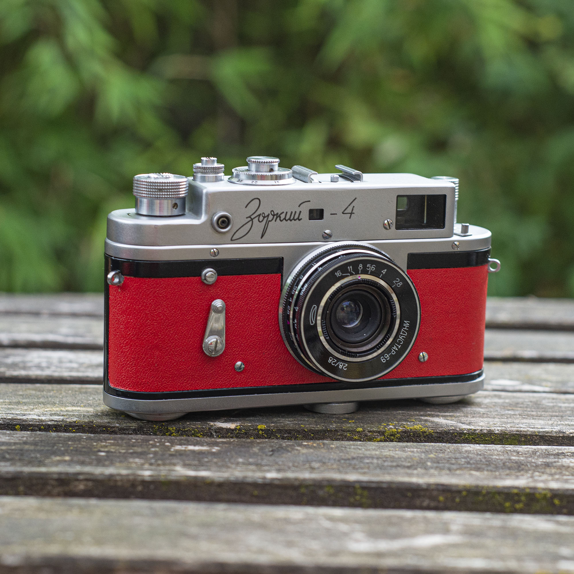 Zorki 4 rangefinder with 28mm lens