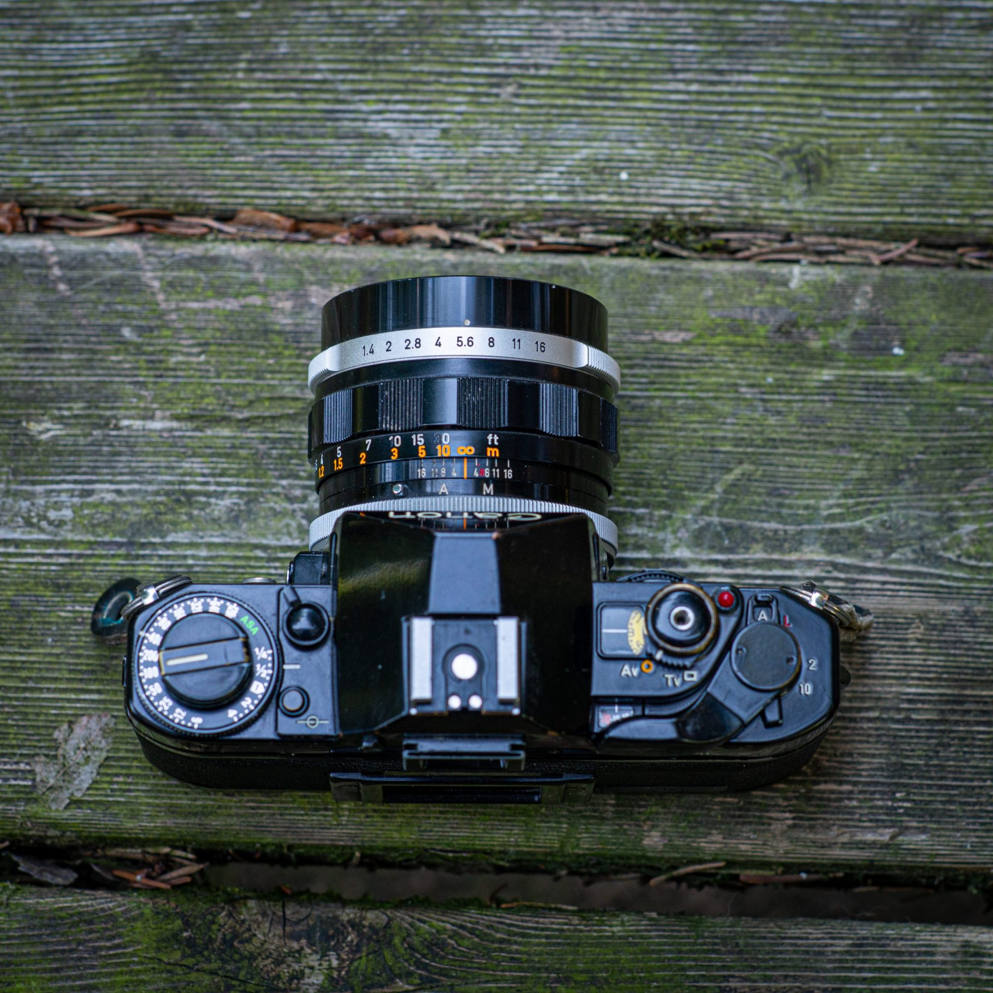 Top view Canon A-1