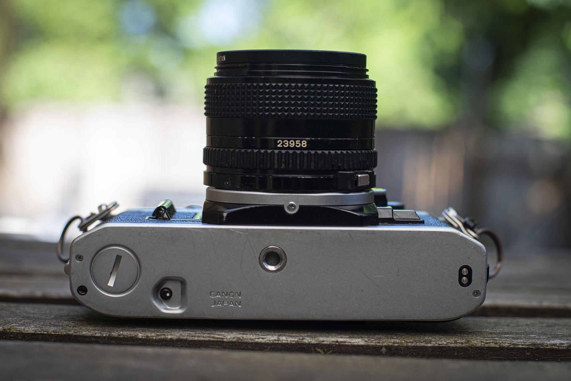 bottom of the camera