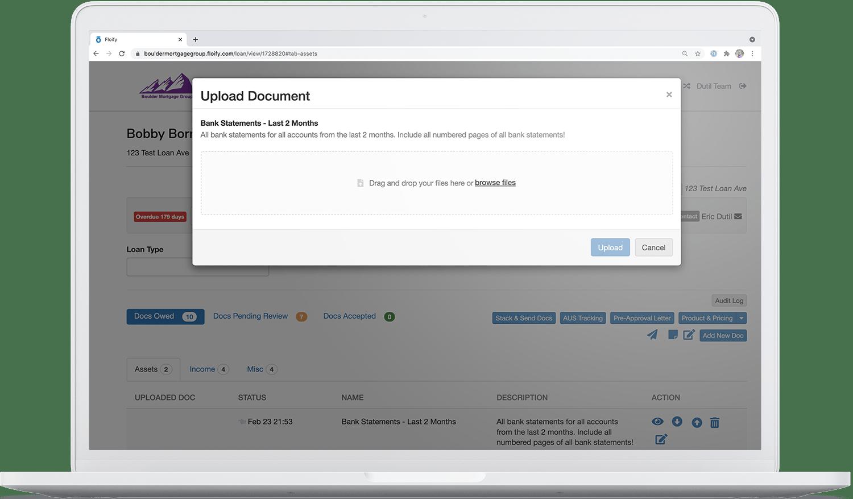 drag and drop file uploads