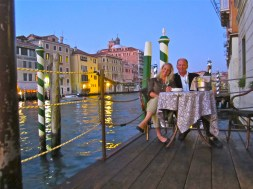Terrace of the Hotel Canal Grande