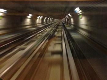 Front row seats on Torino Metro!