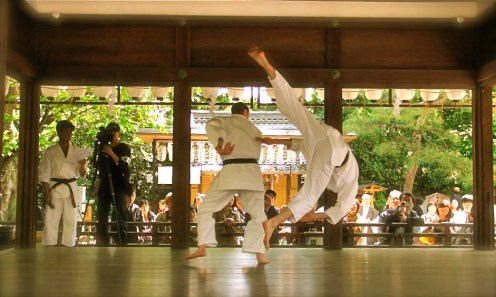 Mugenjuku aikido demonstration in Kyoto Japan.